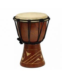 8'' Carved Jembe Drum
