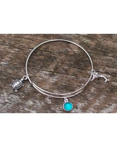 Recycled Aqua Mason Jar Glass Bracelet